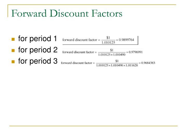 Forward Discount Factors