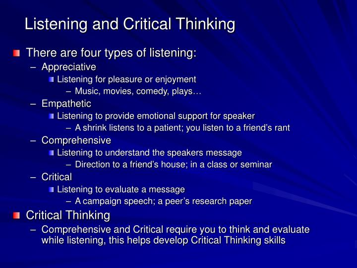 listening comprehension research paper Read this essay on listening: an essential part of communication the research paper effective listening strategies paper.