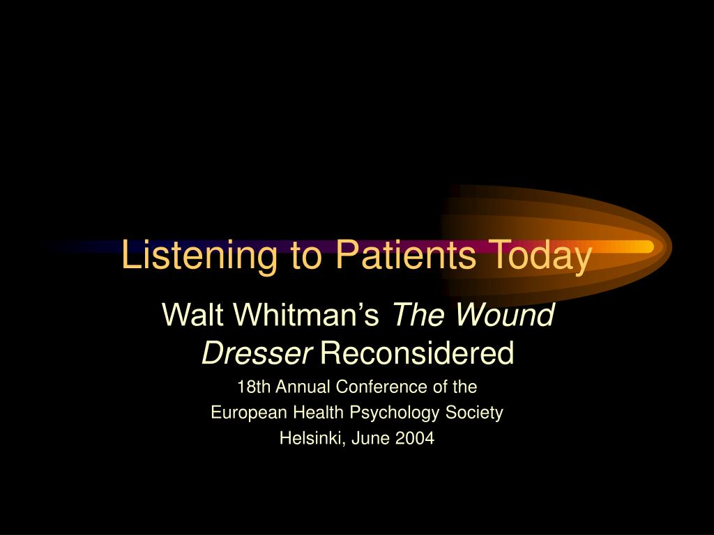 Ppt Listening To Patients Today
