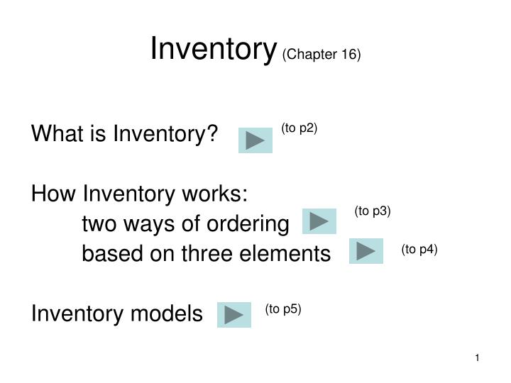 inventory chapter 16 n.