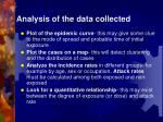analysis of the data collected