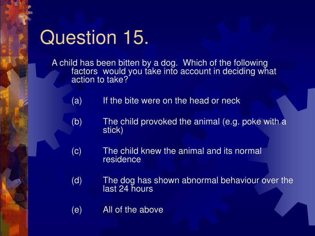 Question 15.