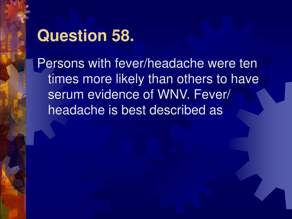 Question 58.