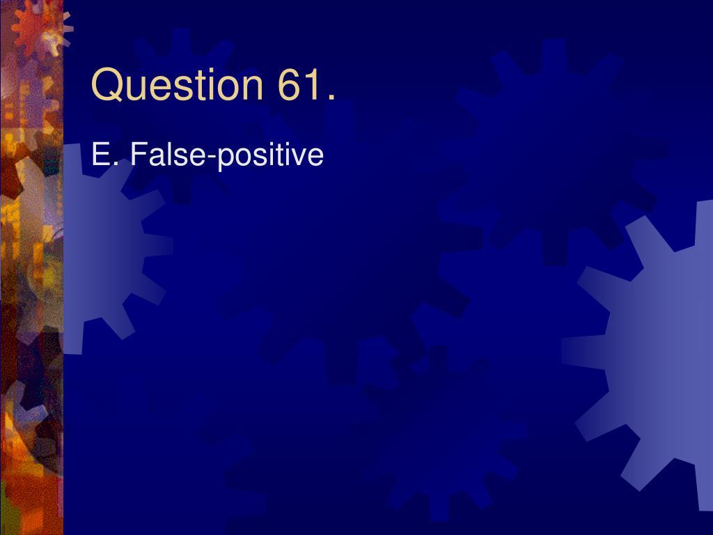Question 61.