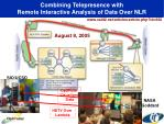 combining telepresence with remote interactive analysis of data over nlr