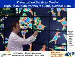 visualization services create high resolution portals to global science data