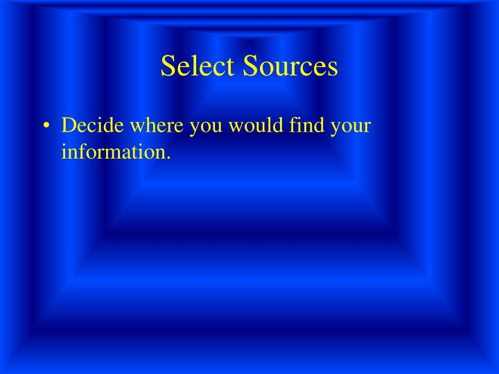 Select Sources