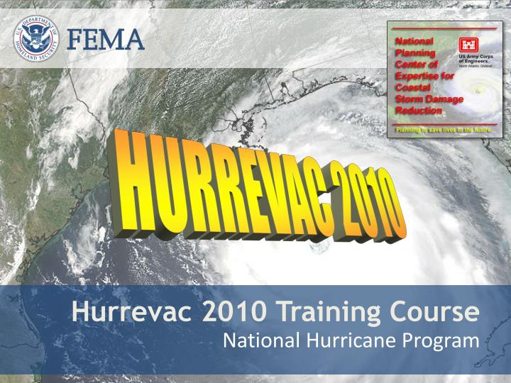 hurrevac 2010 training course n.