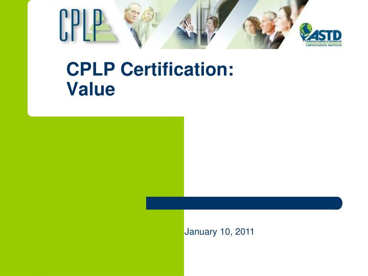 cplp certification value ppt powerpoint presentation