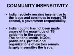 community insensitivity