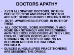 doctors apathy