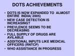 dots achievements