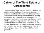 cahier of the third estate of carcassonne