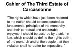 cahier of the third estate of carcassonne1