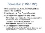 convention 1792 1795