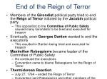 end of the reign of terror