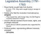 legislative assembly 1791 1792