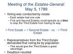 meeting of the estates general may 5 1789