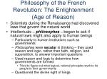 philosophy of the french revolution the enlightenment age of reason