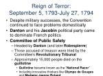 reign of terror september 5 1793 july 27 1794