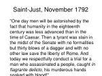 saint just november 1792