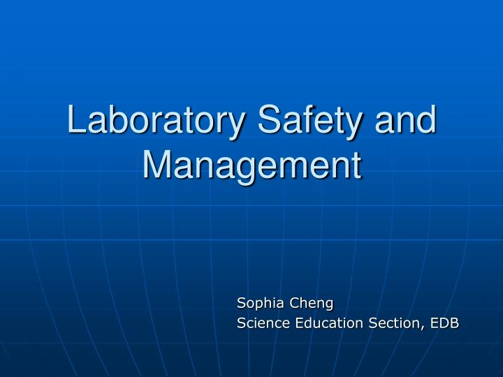 laboratory safety and management n.