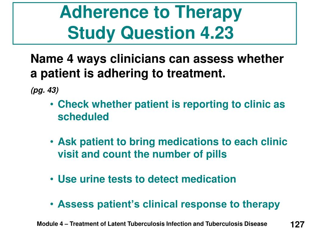 Adherence to Therapy