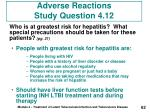 adverse reactions study question 4 12