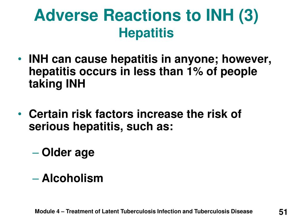 Adverse Reactions to INH (3)