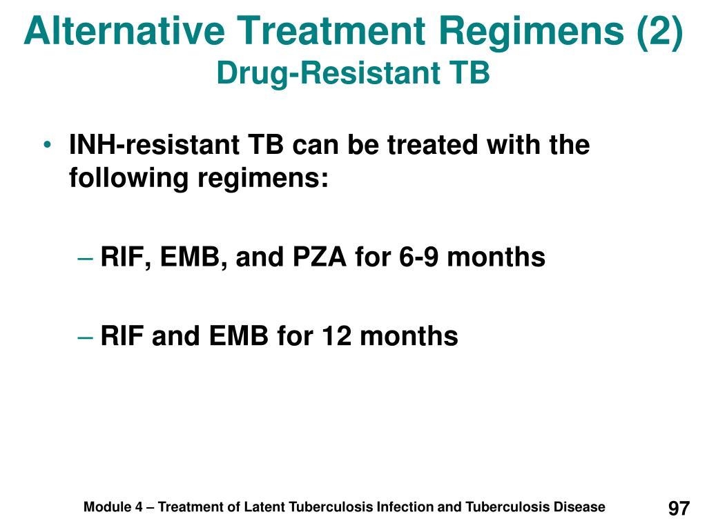 Alternative Treatment Regimens (2)