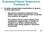 evaluating patients response to treatment 3