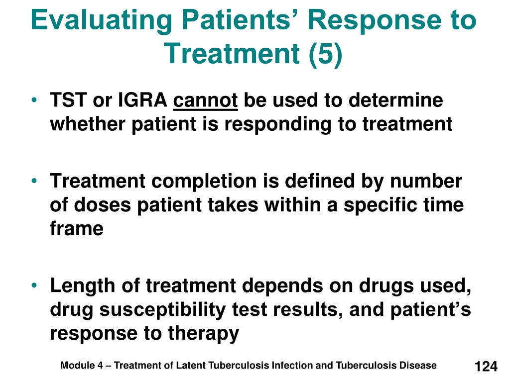 Evaluating Patients' Response to Treatment (5)