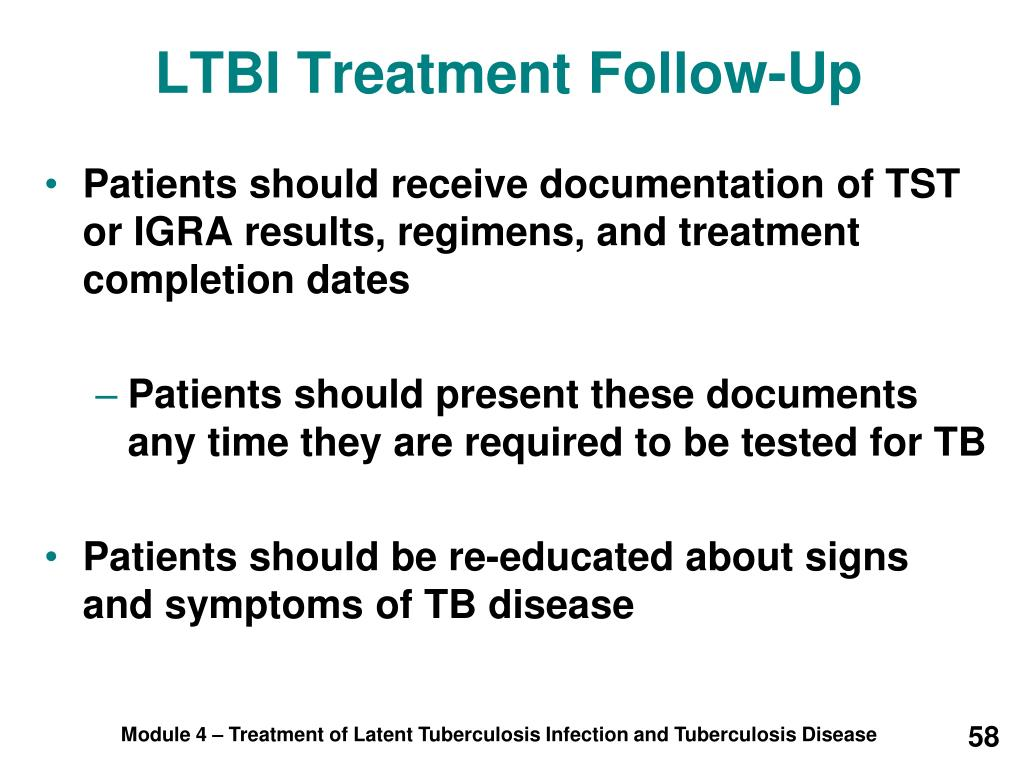 LTBI Treatment Follow-Up
