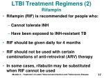 ltbi treatment regimens 2 rifampin