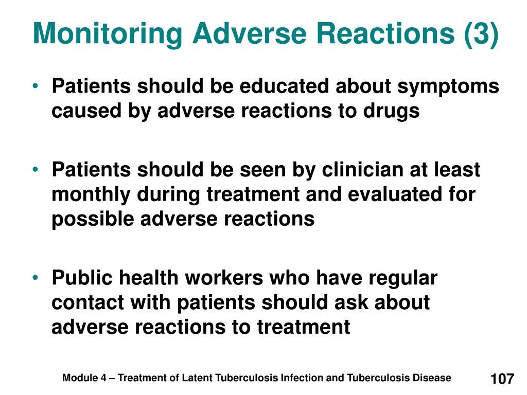 Monitoring Adverse Reactions (3)