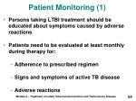 patient monitoring 1