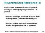 preventing drug resistance 4