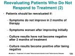 reevaluating patients who do not respond to treatment 2