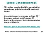 special considerations 1
