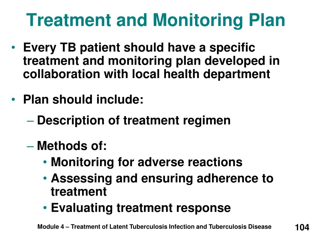 Treatment and Monitoring Plan