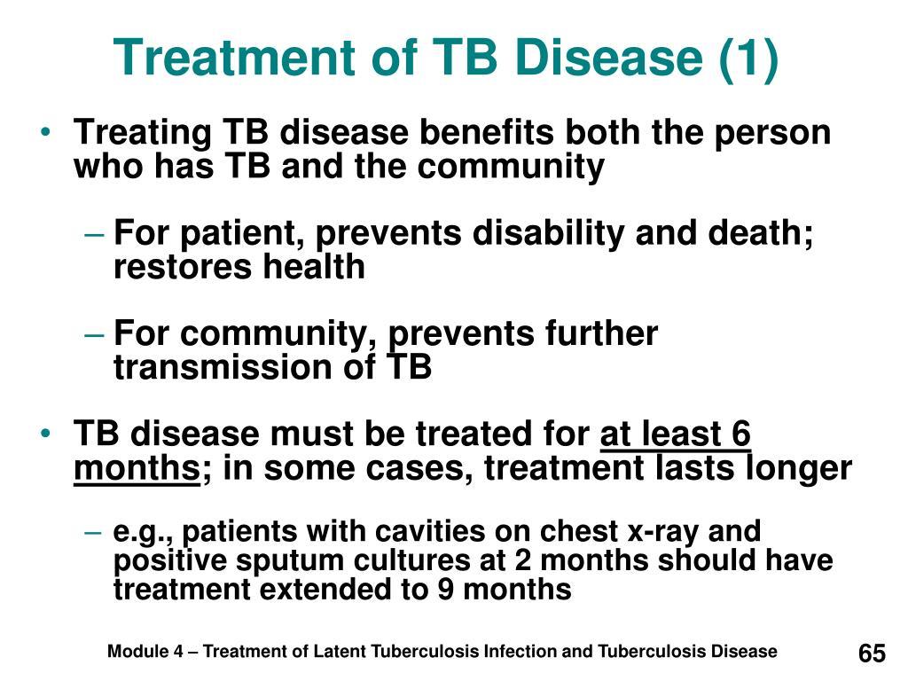 Treatment of TB Disease (1)