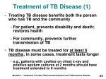 treatment of tb disease 1