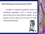 hemofiltra o intermitente hfi