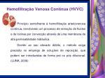 hemofiltra o venosa cont nua hvvc