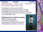 sistema prisma gambro abrang ncia total das terapias de reposi o renal cont nua