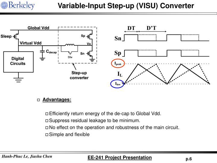 Variable-Input Step-up (VISU) Converter