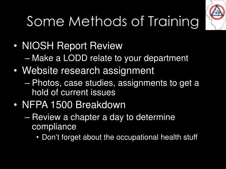 Some Methods of Training