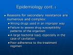 epidemiology cont 3