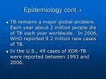 epidemiology cont 5