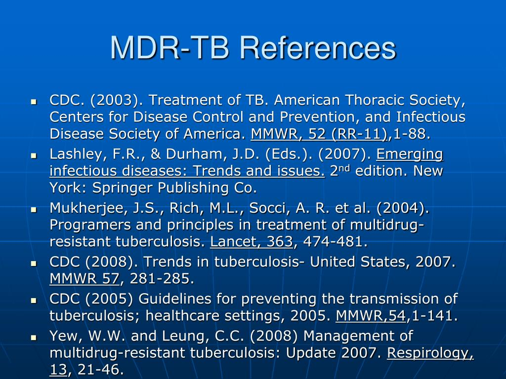 MDR-TB References